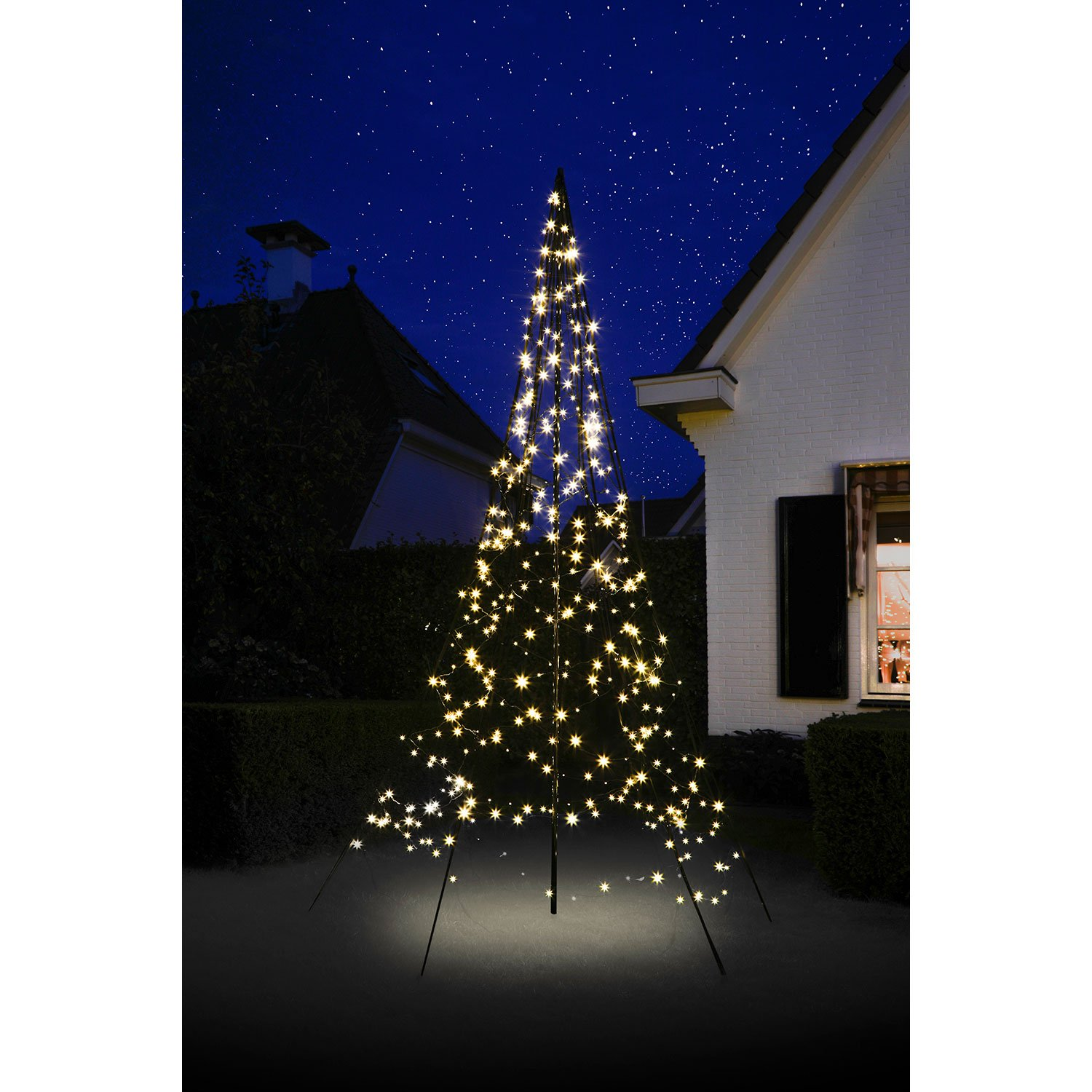 Outdoor Led Christmas Lights.Details About 10 Ft Outdoor Lighted Christmas Tree 360 Led String Light Yard Decor Multi
