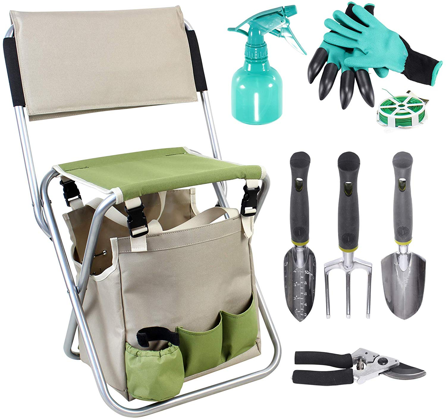 Incredible Details About 10 Piece Garden Tools Set Gardening Hand Tools Kit Detachable Storage Tote Bag Ibusinesslaw Wood Chair Design Ideas Ibusinesslaworg