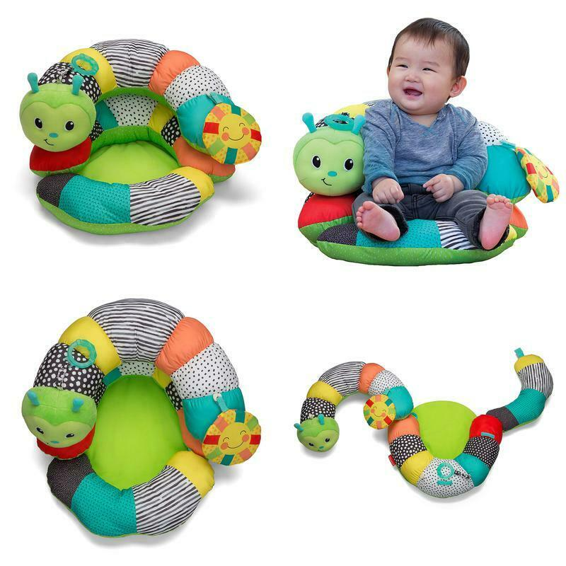 Play Mats Prop-A-Pillar Tummy Time /& Seated Support Baby Toy Gyms Game Snake