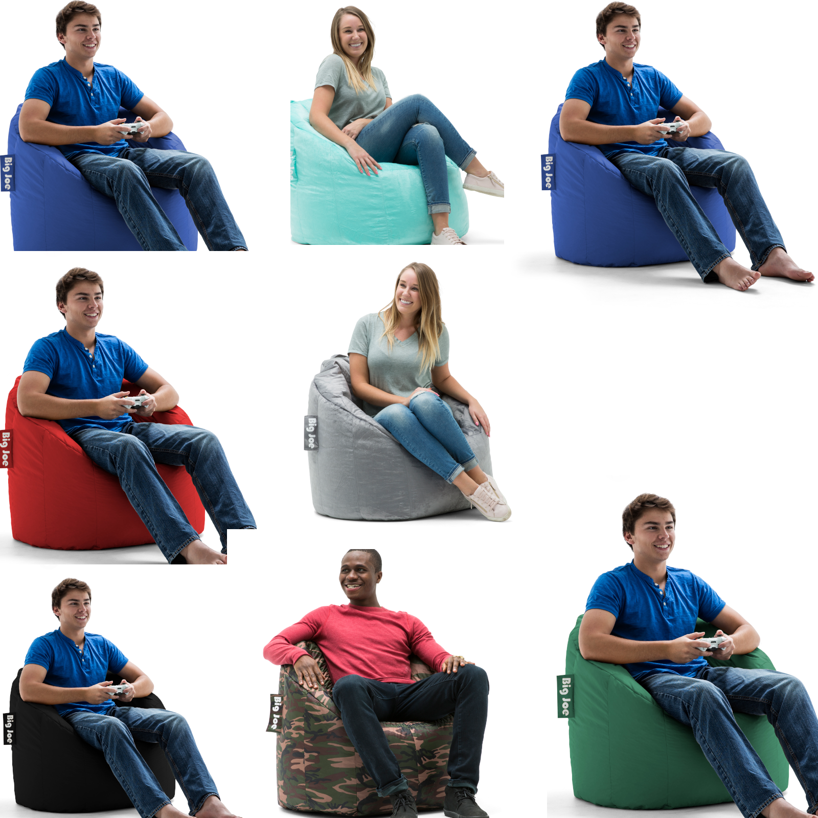 Details About Big Joe Milano Bean Bag Chair Multiple Colors Available Comfort For Kids