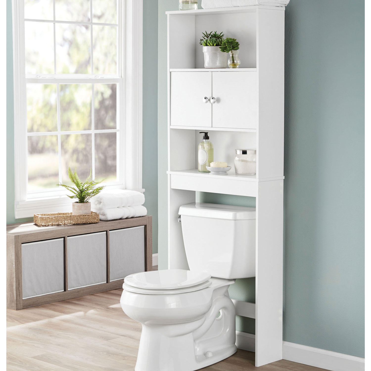 Awe Inspiring Details About Bathroom Storage White Over The Toilet Space Saver 3 Shelves Cabinet Doors Wood Caraccident5 Cool Chair Designs And Ideas Caraccident5Info