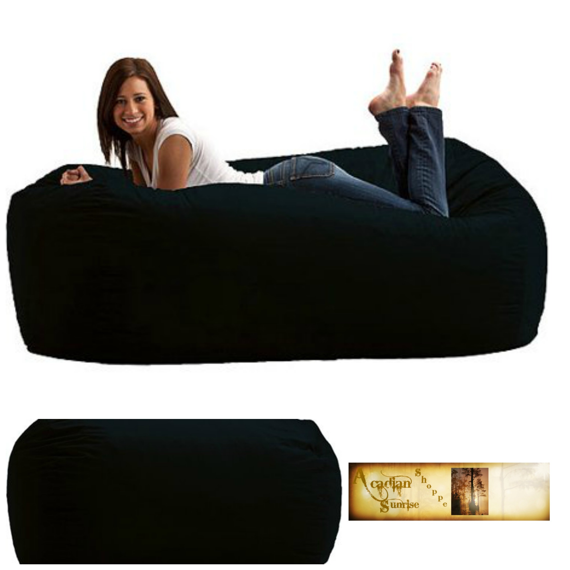 Miraculous Details About Adult Bean Bag Chair Huge 6 Media Lounger Fuf Memory Foam Cozy Soft Pdpeps Interior Chair Design Pdpepsorg