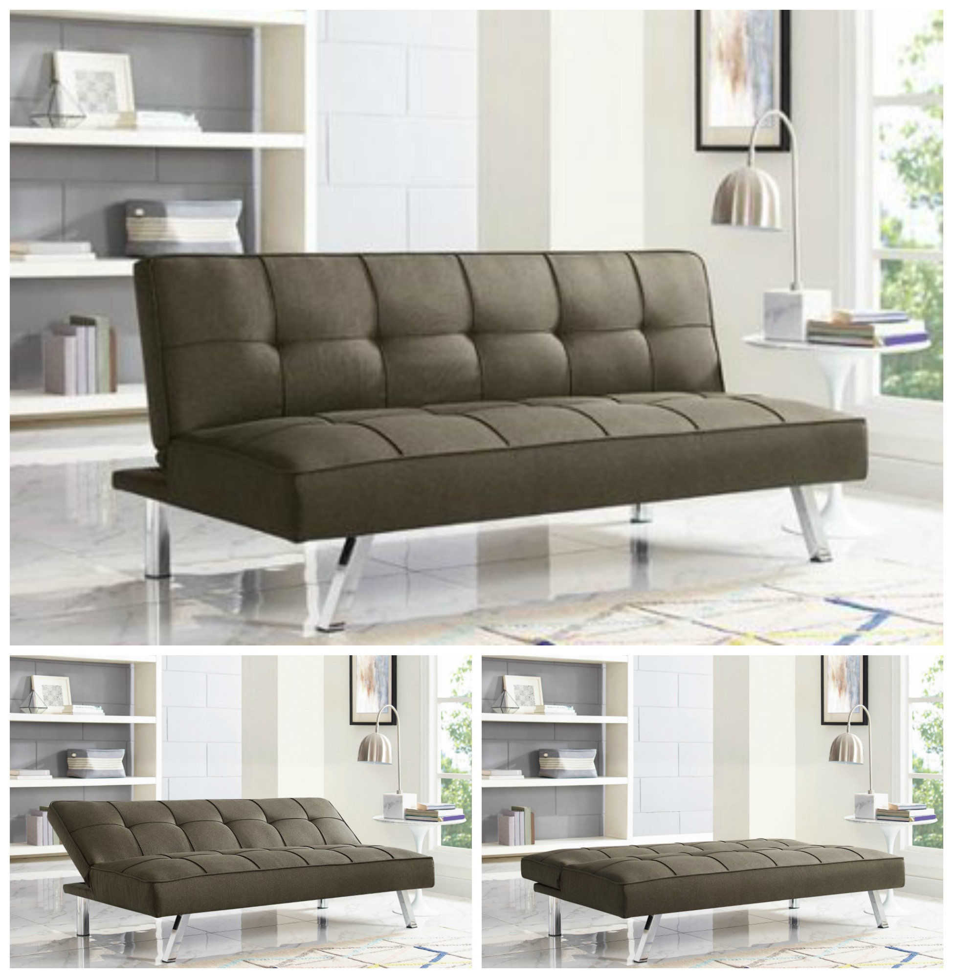 Surprising Details About Sleeper Sofa Bed Brown Convertible Couch Modern Living Room Futon Loveseat Chair Gmtry Best Dining Table And Chair Ideas Images Gmtryco