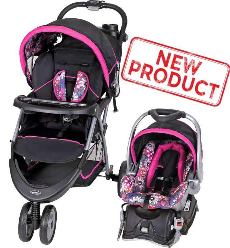 Baby Stroller + Car Seat Combo Girl Toddler Travel System ...