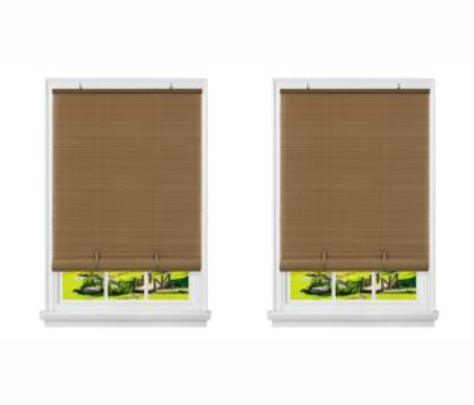 Cordless Vinyl Roll Up Window Blinds Set Of 2 Safety