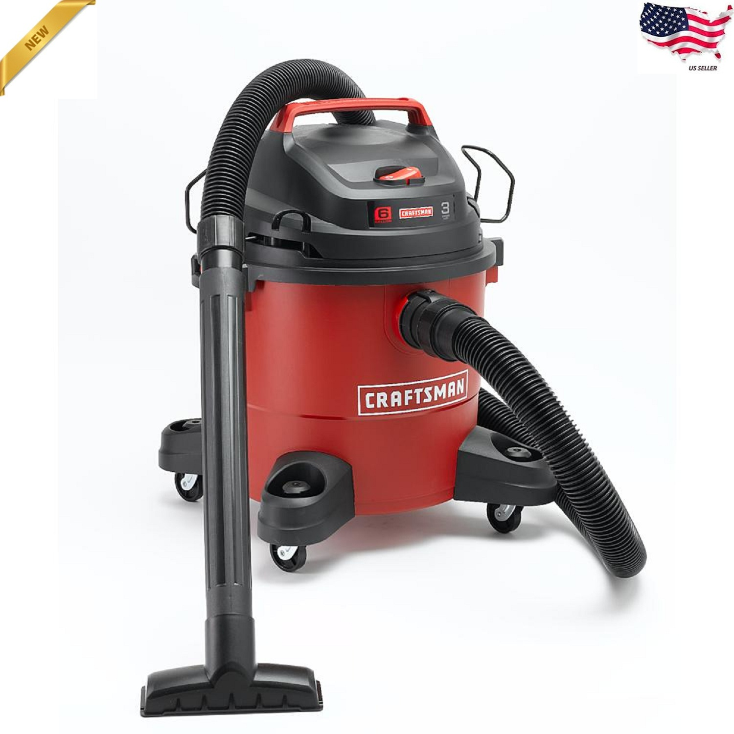 Craftsman Wet Dry Vac 6 Gallon Vacuum Cleaner 3.0 HP Portabl