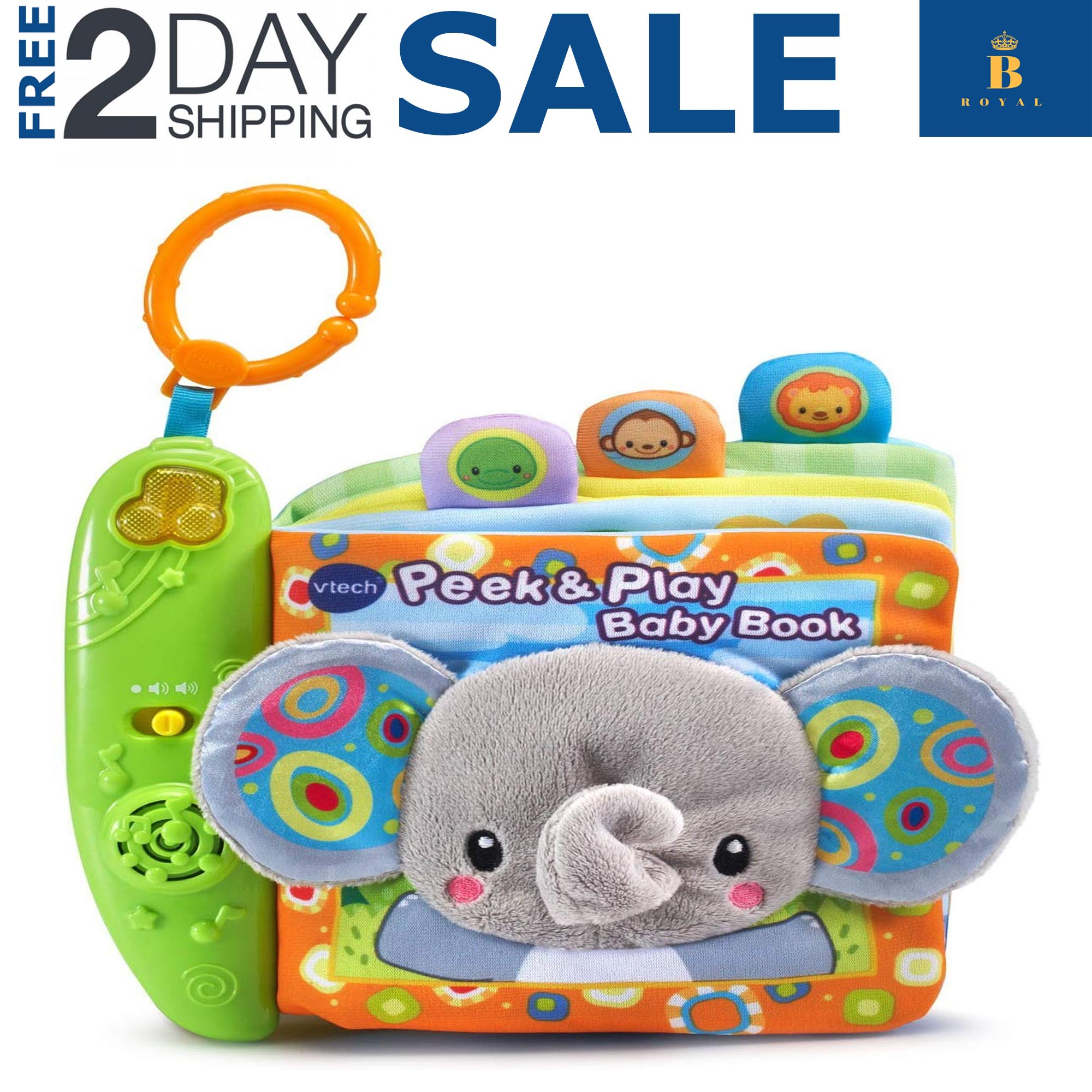 Educational Peek & Play Baby Book Toys for 6 Months 1 2 3 ...