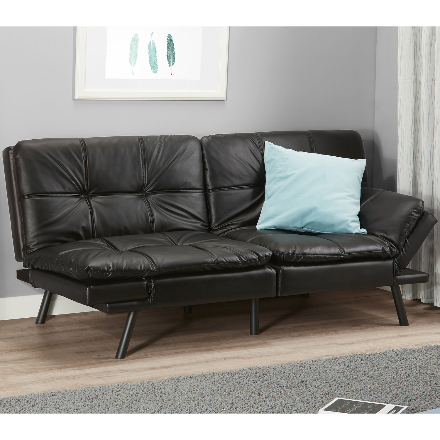 Memory Foam Full Size Futon W Foldable