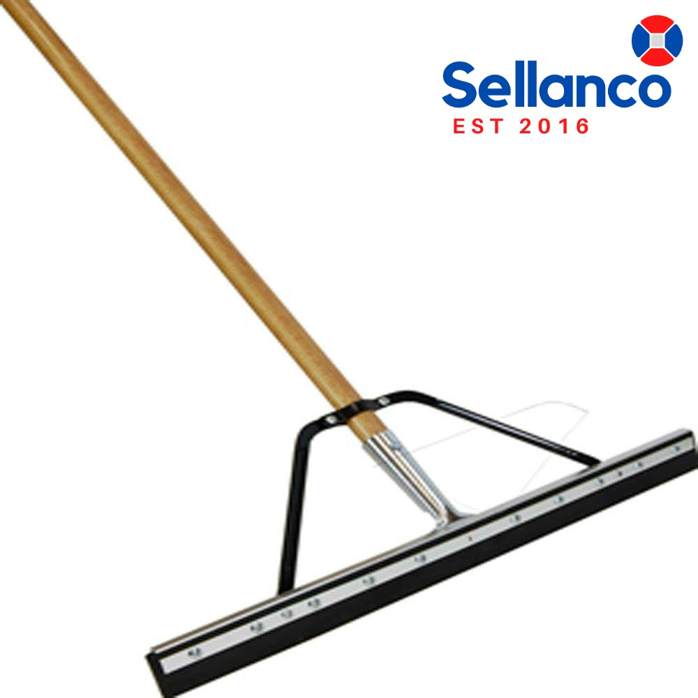 Professional 24 In Floor Squeegee With Handle Rubber New 71798800165 Ebay