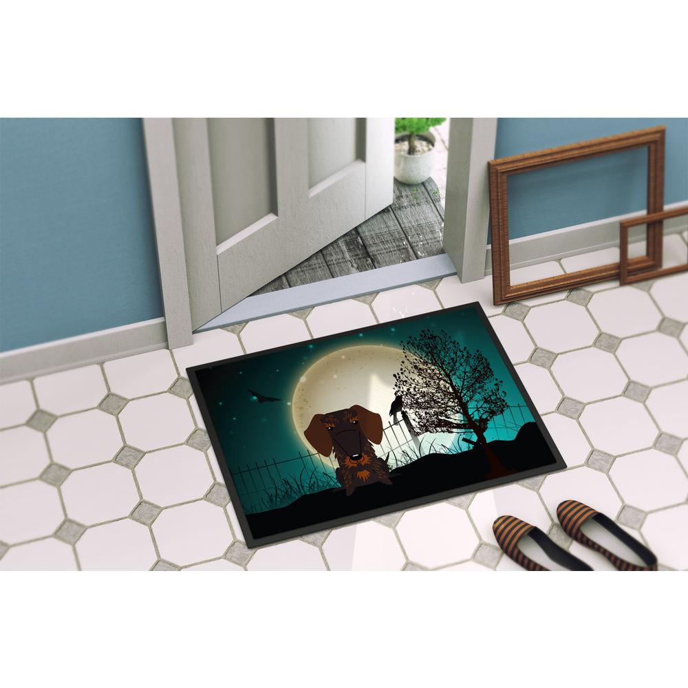Details about  /18 In X 27 In Indoor Outdoor Halloween Scary Wire Haired Dachshund Chocolate