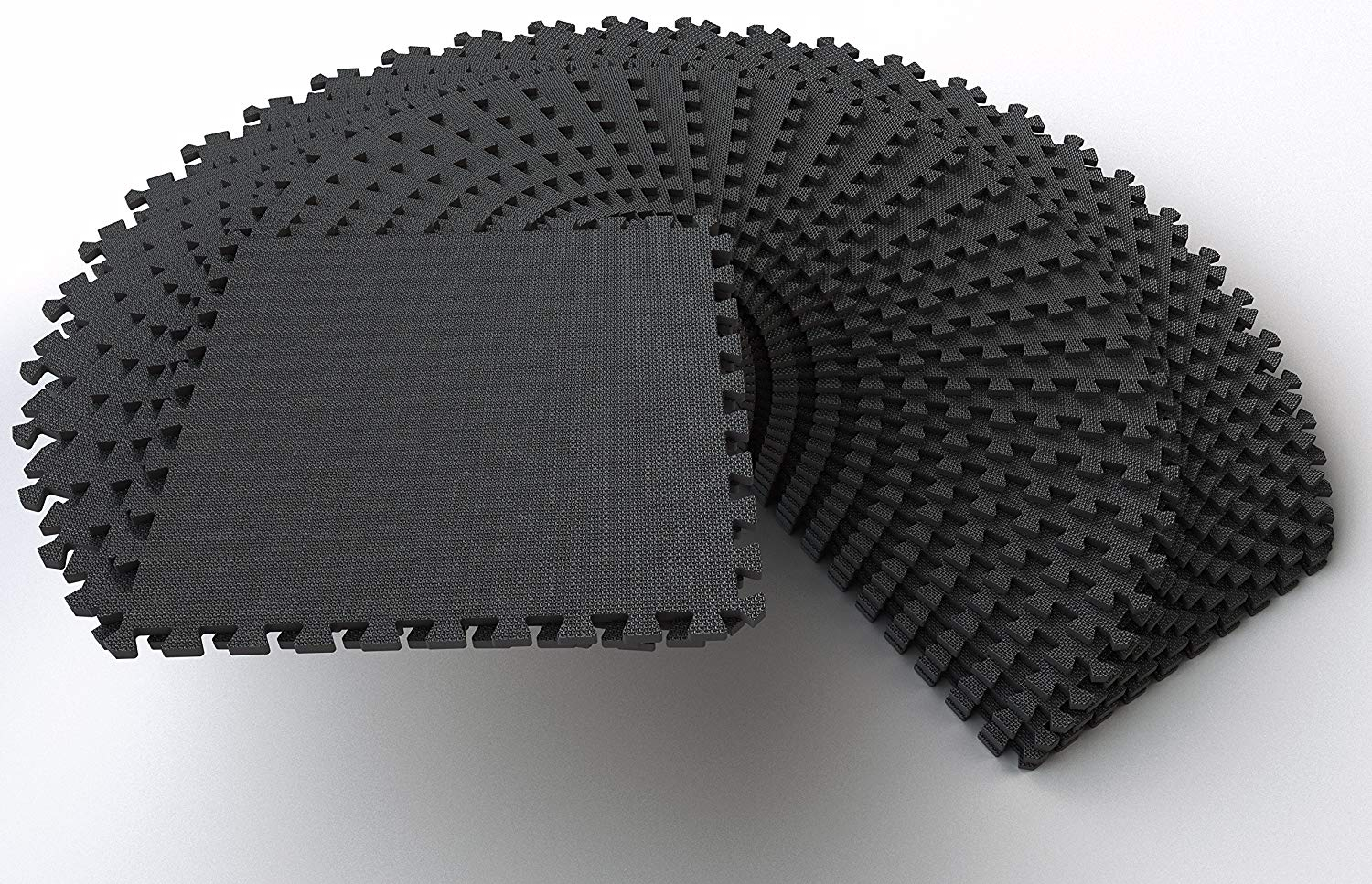 """Clevr 1//2/"""" Extra Thick 144 Sq Ft EVA Foam Floor Exercise Gym Mats Multiple Color"""