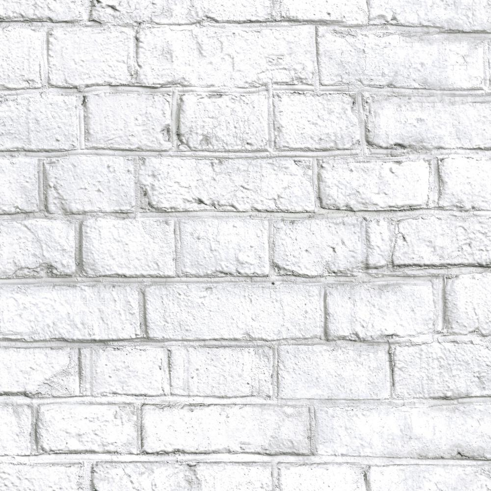 Details About 28 18 Sq Ft White Brick Peel And Stick Wallpaper