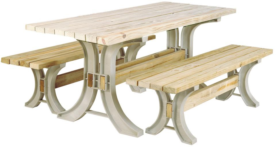Basics Picnic Table Kit In Sand Outdoor Furniture ...