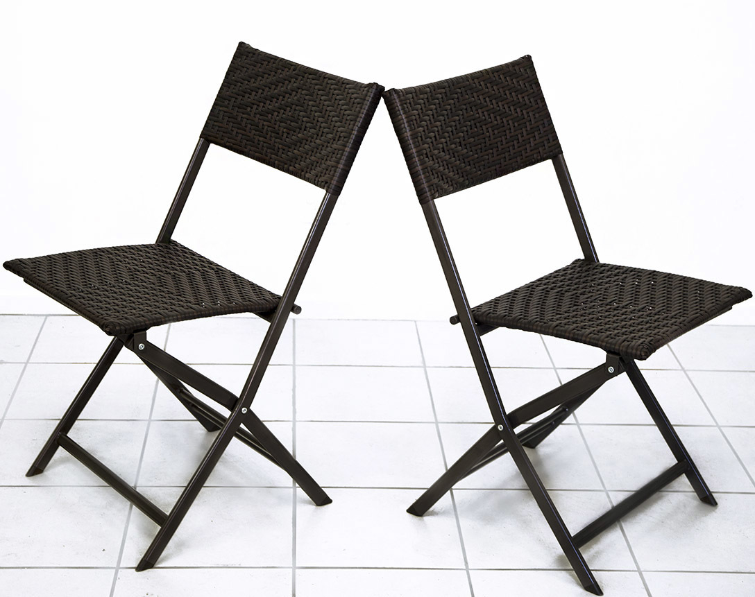 Details About 2 X Alfresco Rattan Wicker Foldable Outdoor Chair