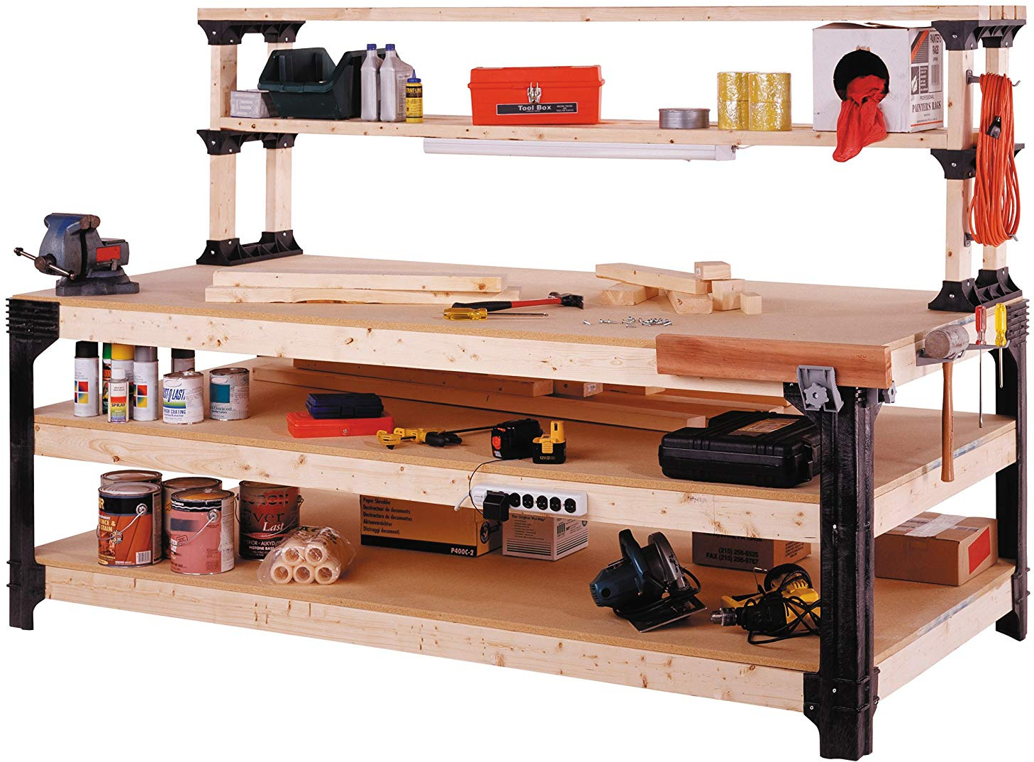 Marvelous Details About New Workbench Table Kit Diy Bench Custom Storage Wooden Shelf Garage Shop 2 X 4 Pabps2019 Chair Design Images Pabps2019Com