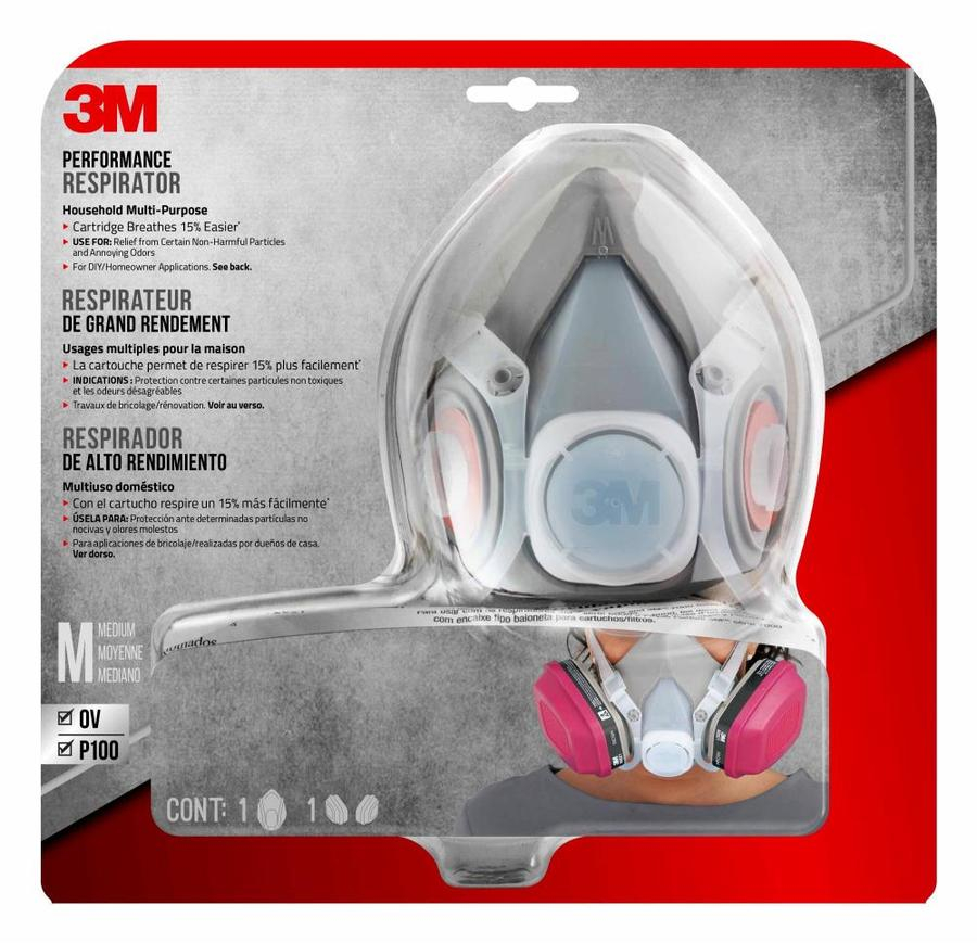3m 2-pack reusable chemical valved safety mask