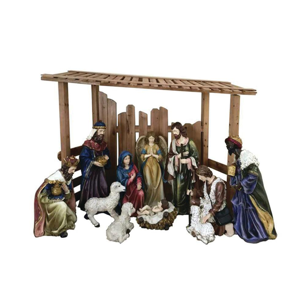 Details About Outdoor Christmas Nativity Set Creche Figurine 56 In Tall Yard Decor 12 Piece