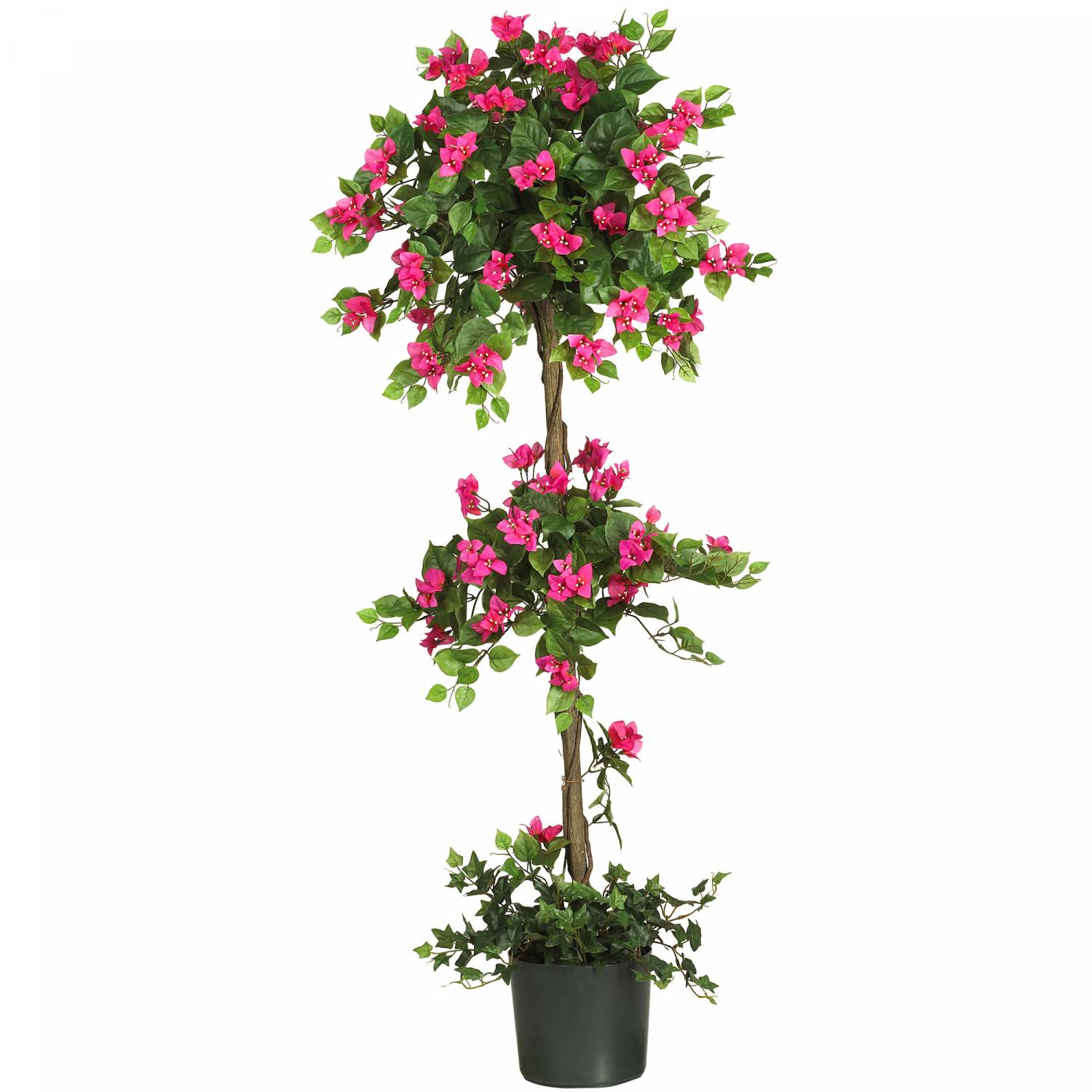 Artificial Topiary Tree In Pot 5 Bougainvillea Nearly Natural Plant Home Office Ebay