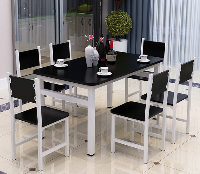 5 X Piece Set Bliss Large Wood and Steel Dining Table Chairs ...