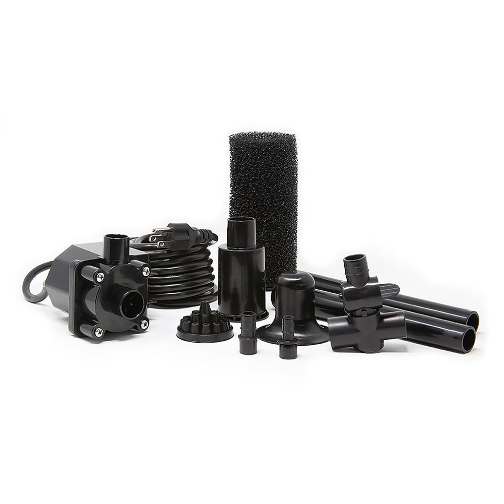 thumbnail 14 - Beckett Corporation Pond Pump Kit with Prefilter and Nozzles, 680 GPH
