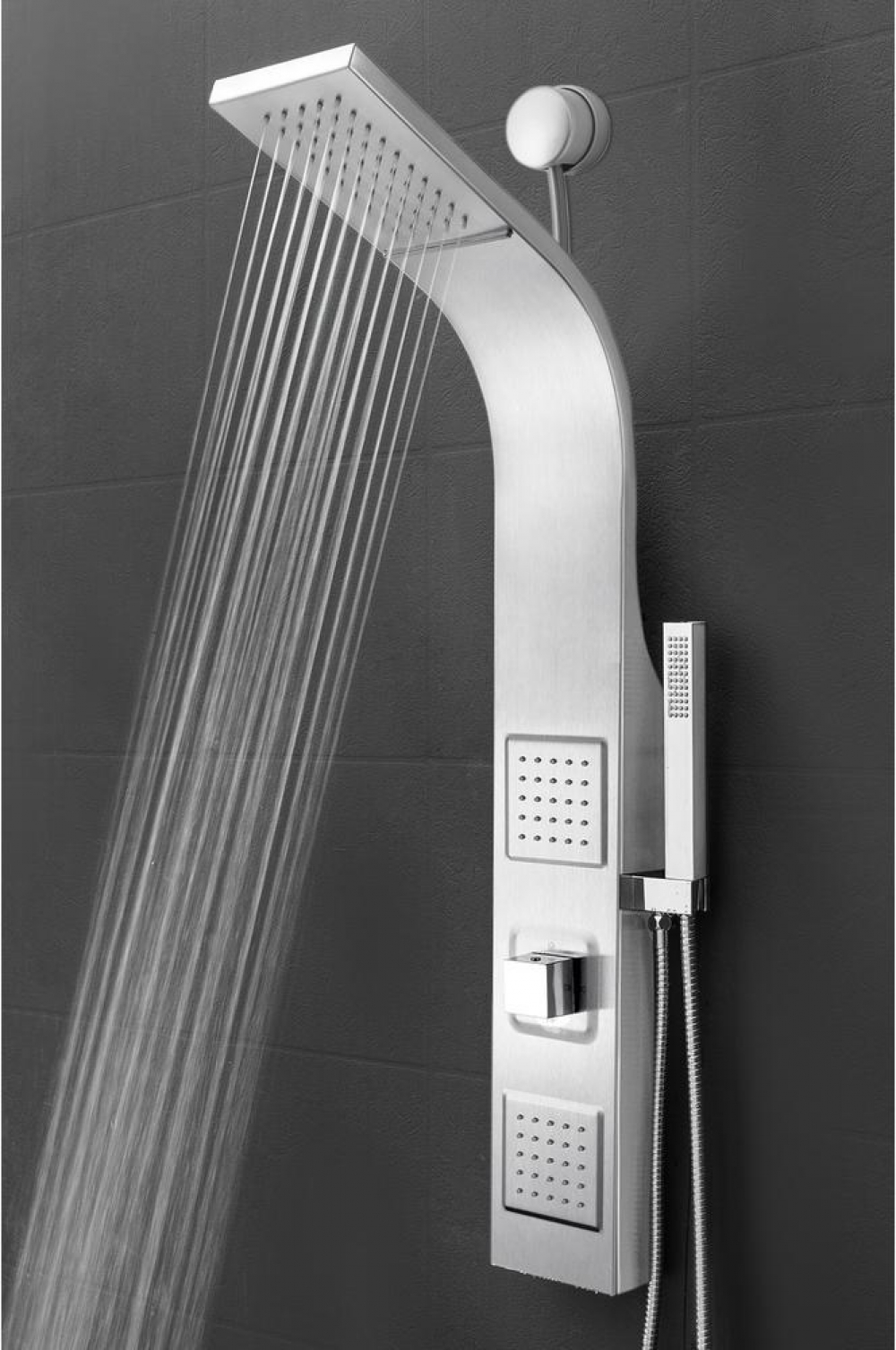 Details About Akdy 39 In 2 Jet Shower Panel System Rainfall Waterfall Shower Head Handheld