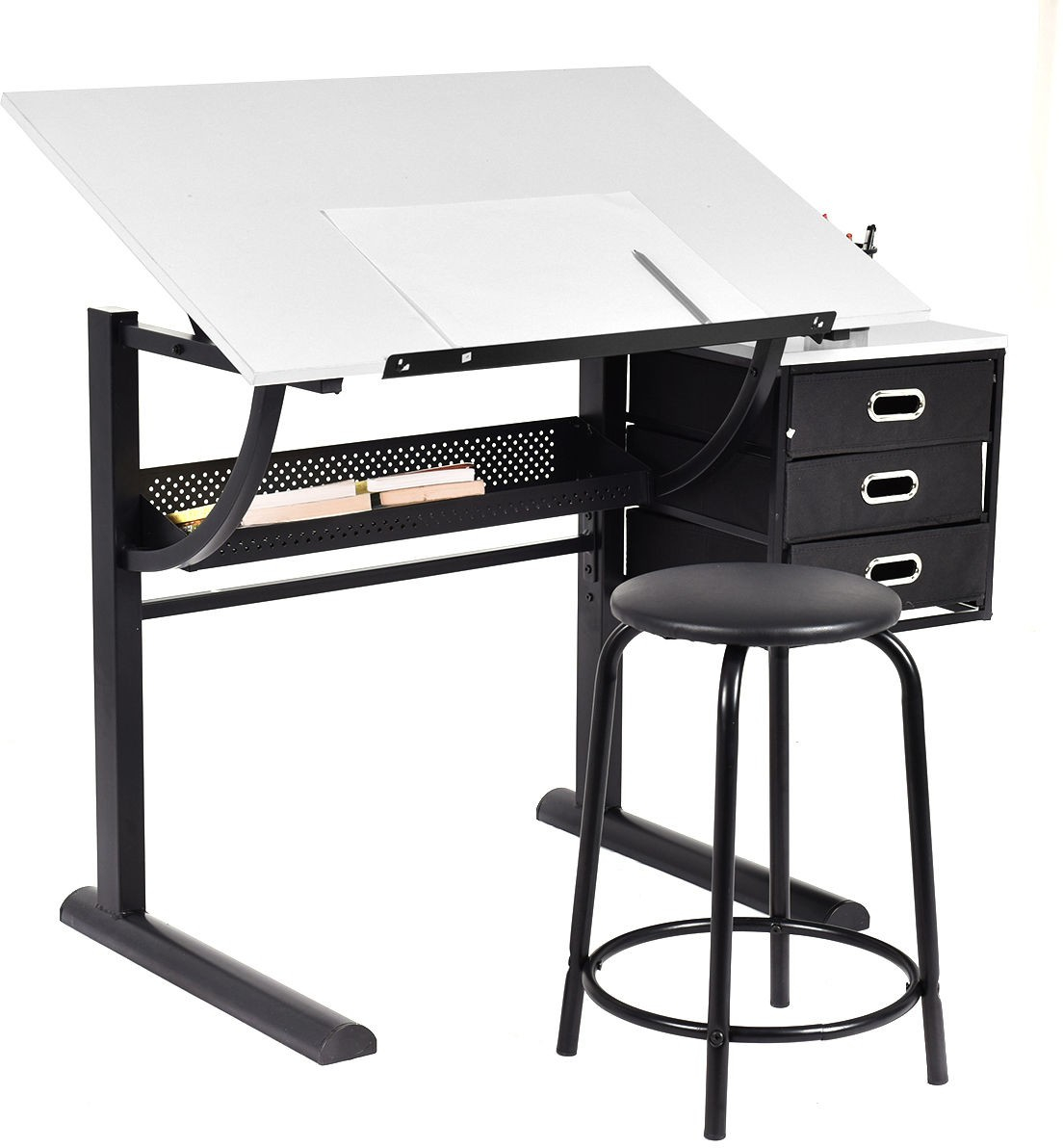 Astounding Details About Adjustable Drafting Table Desk Art Artist Craft Hobby Drawing Desk W Stool Download Free Architecture Designs Lukepmadebymaigaardcom