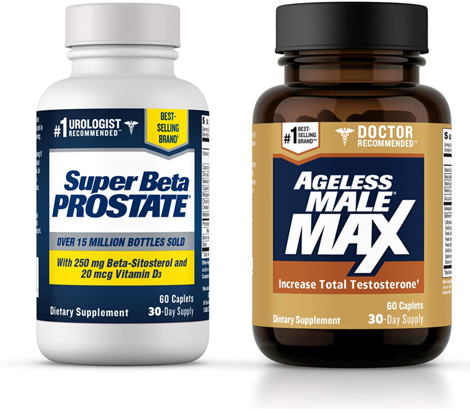 Ageless Male Max Total Testosterone Booster and Super Beta