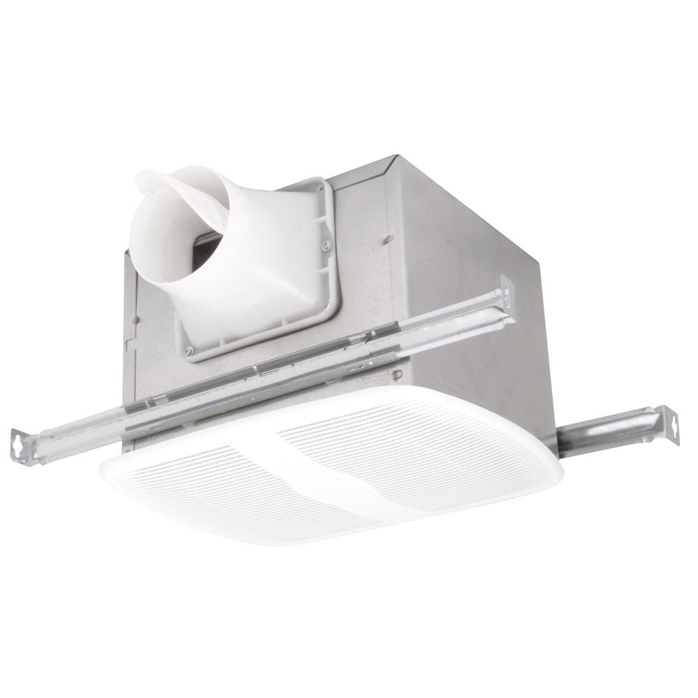 CEILING BATHROOM EXHAUST FAN White Light Rectangle Grill Galvanized Steel New