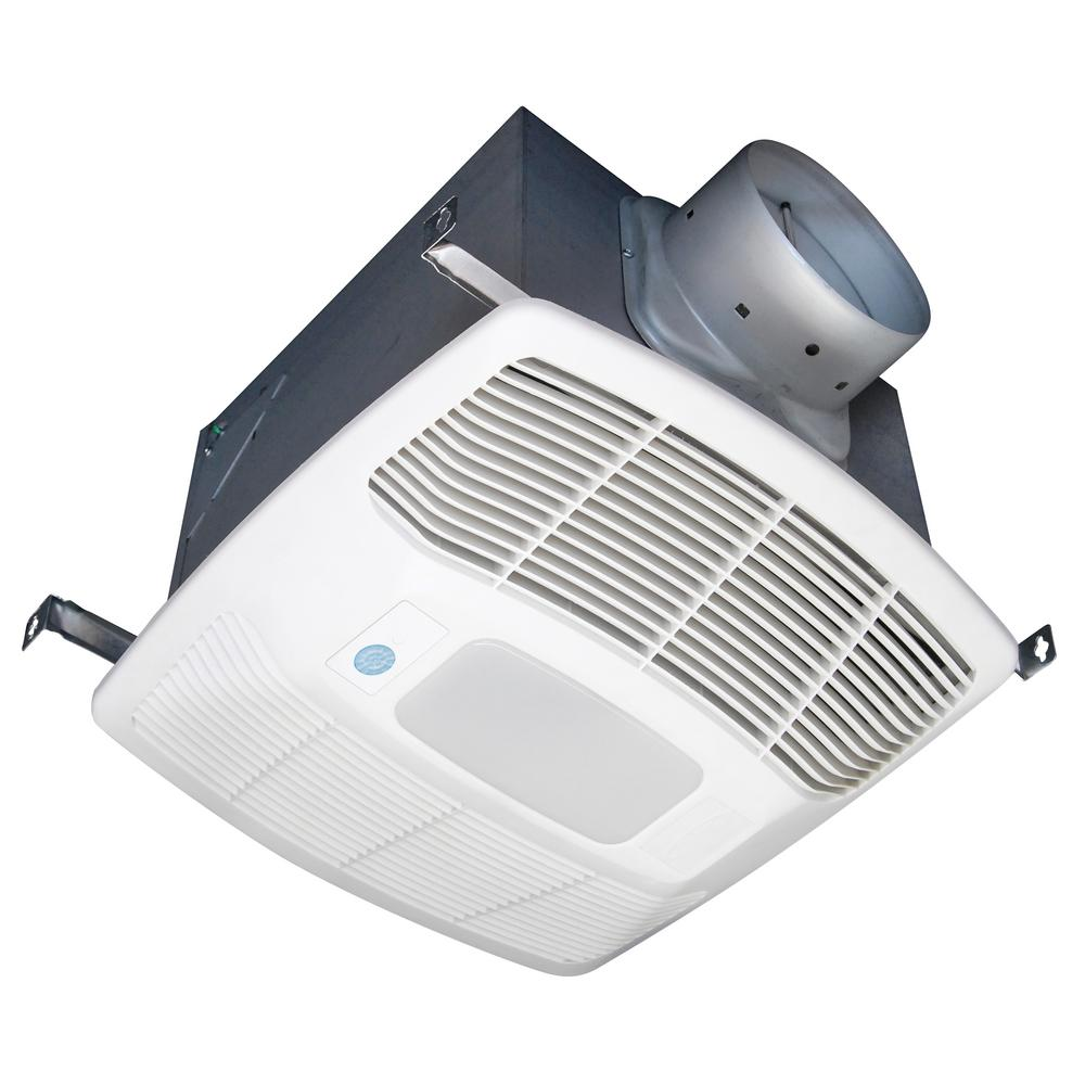 Details About Air King Ceiling Exhaust Bathroom Fan Led Light Galvanized Steel Timer White