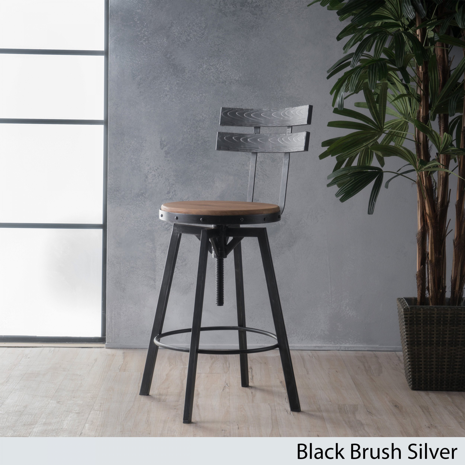 Details About Bar Stool Counter Height Adjustable Round Seat Swivel Chair Kitchen Dining Room