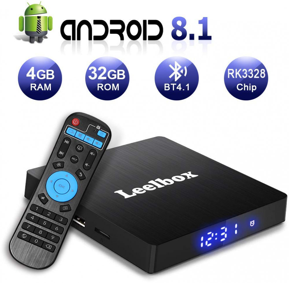 Details about Smart TV Box Android 8 1 Leelbox Q4 S Quad Core BT 4 1 4GB  RAM 32GB ROM WiFi New