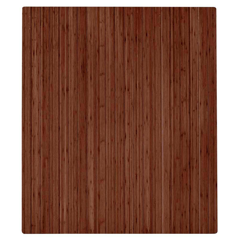 "Bamboo Roll-Up Chairmat No Lip Walnut 42/""L x 48/""W"