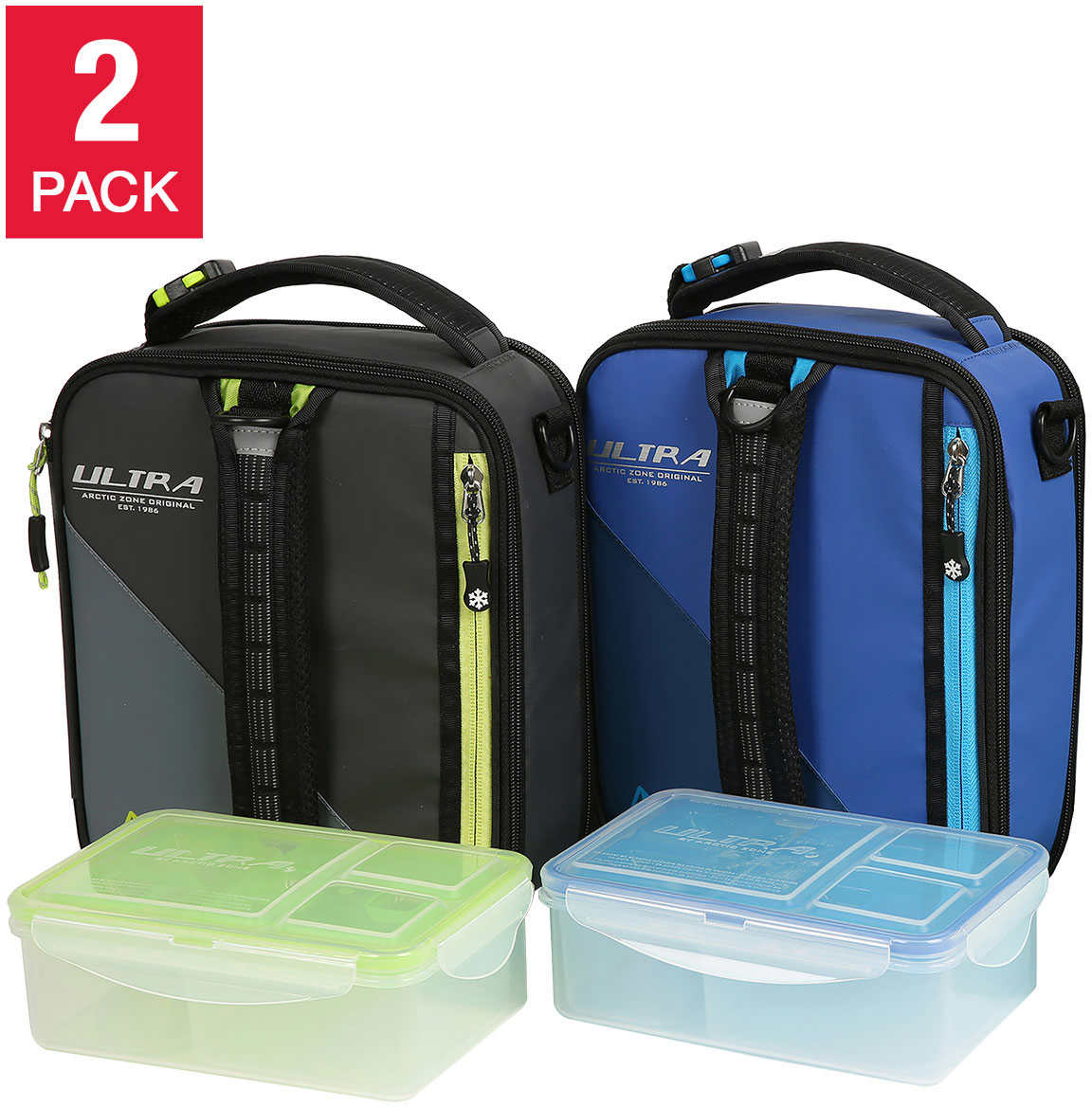 Details About 2 Pack Arctic Zone Ultra Expandable Lunch Box