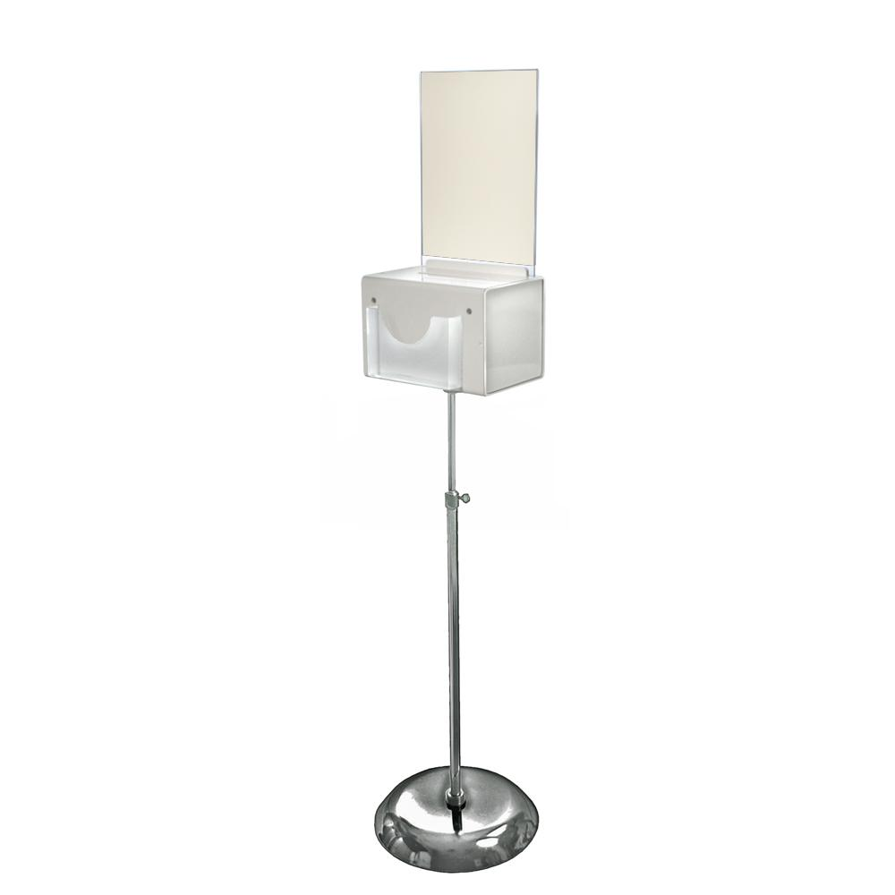 Azar 206300 Large Lottery Box on Pedestal with Lock and Key