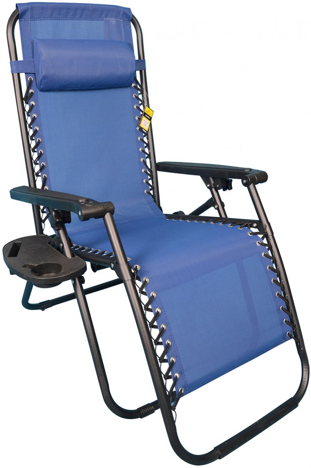 Details About New Anti Gravity Chair Sling Fabric Steel Portable With Removable Cupholder Blue