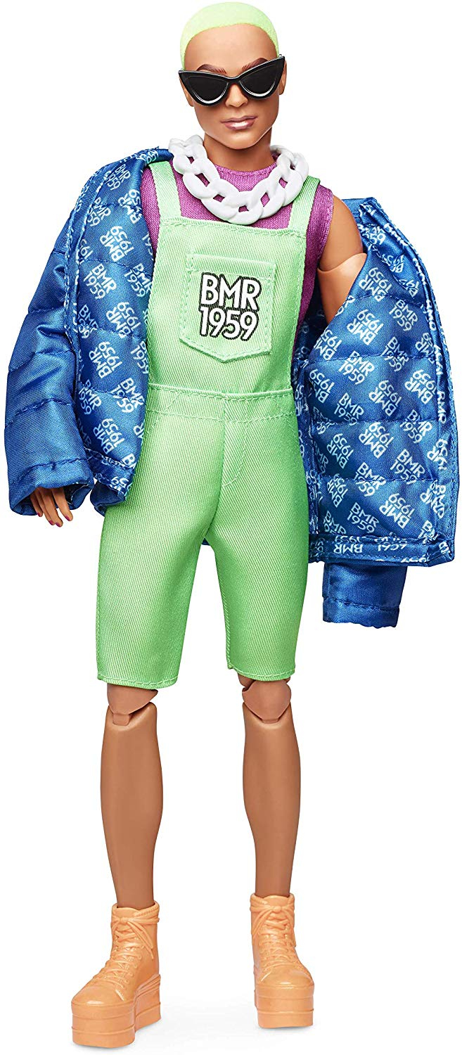 Barbie BMR1959 Neon Overalls and Puffer Jacket Kid Toy Gift