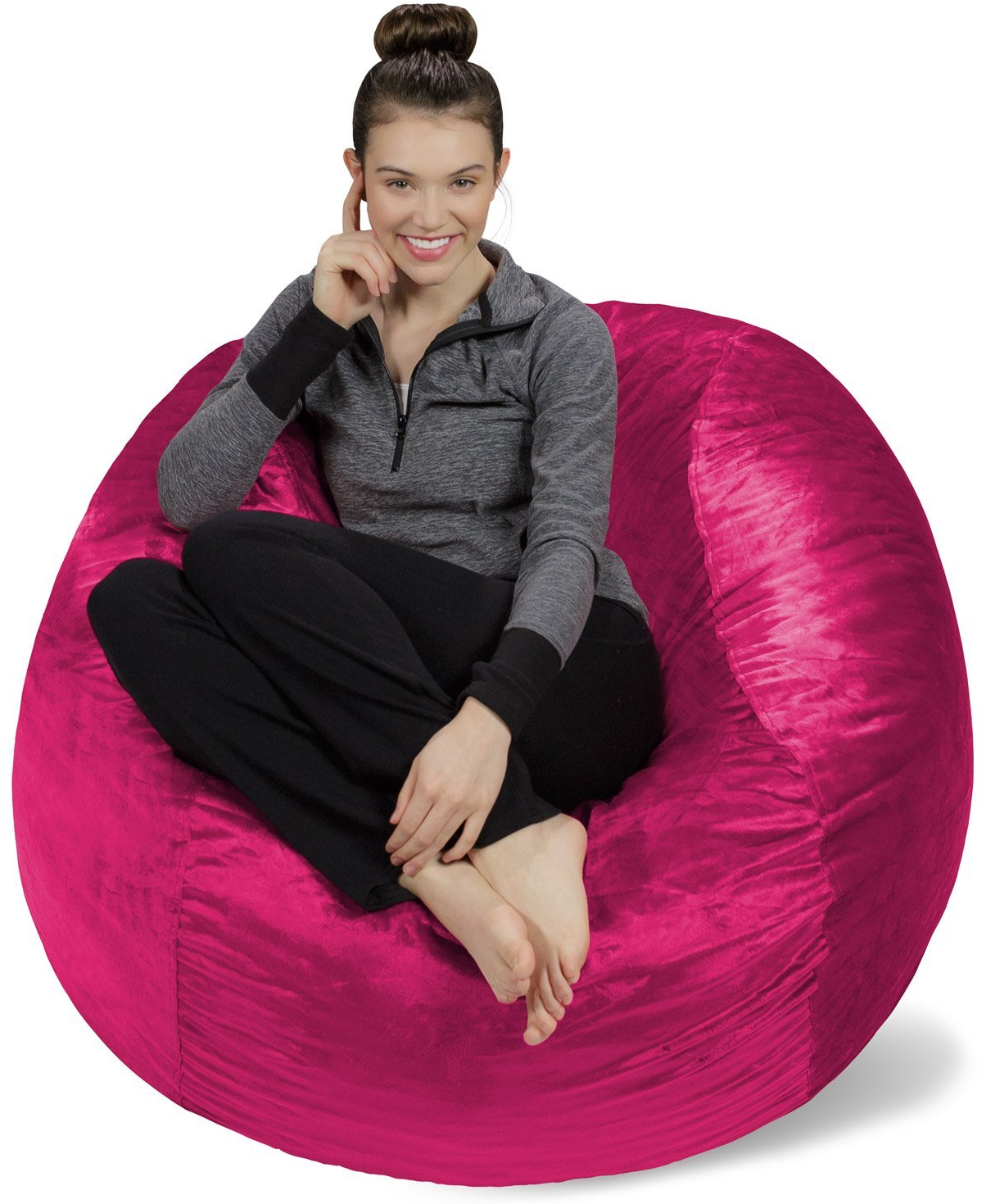 Astonishing Details About Bean Bag Ultra Suave Silla Sofa Saco Relleno De Espuma Memory Foam Chair Magenta Gmtry Best Dining Table And Chair Ideas Images Gmtryco