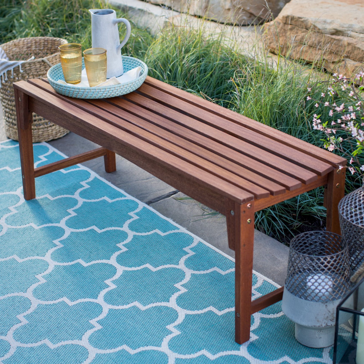 Miraculous Details About 4 Ft Slat Backless Outdoor Garden Wood Bench Patio Deck Poolside Porch Shower Dailytribune Chair Design For Home Dailytribuneorg