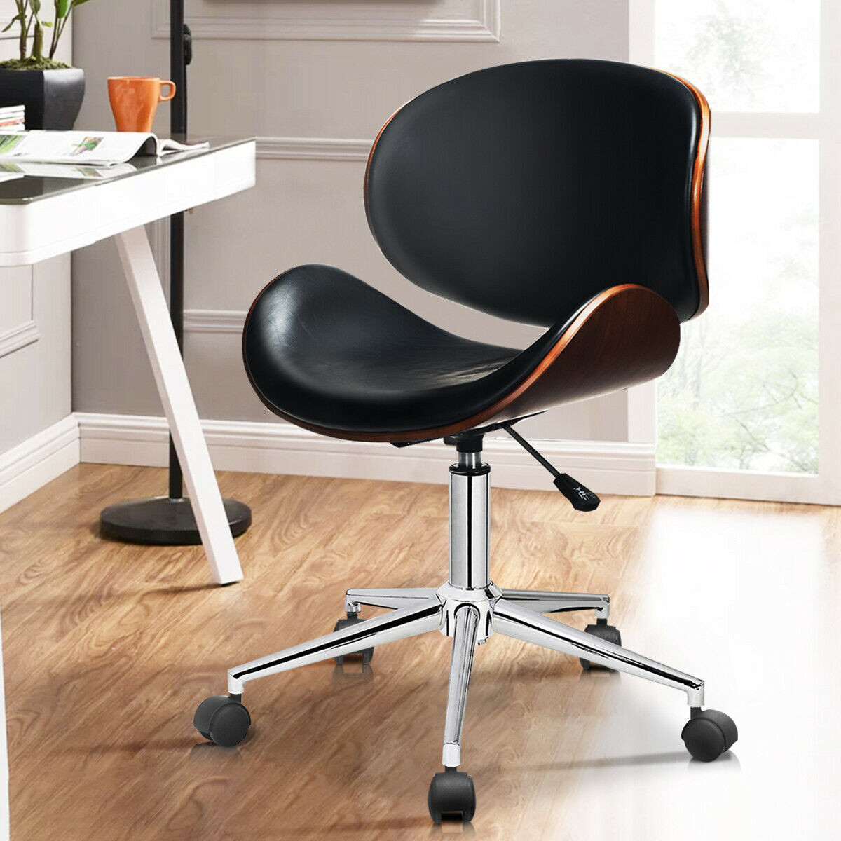 Details About Bentwood Mid Century Executive Height Adjustable Swivel Office Chair Modern