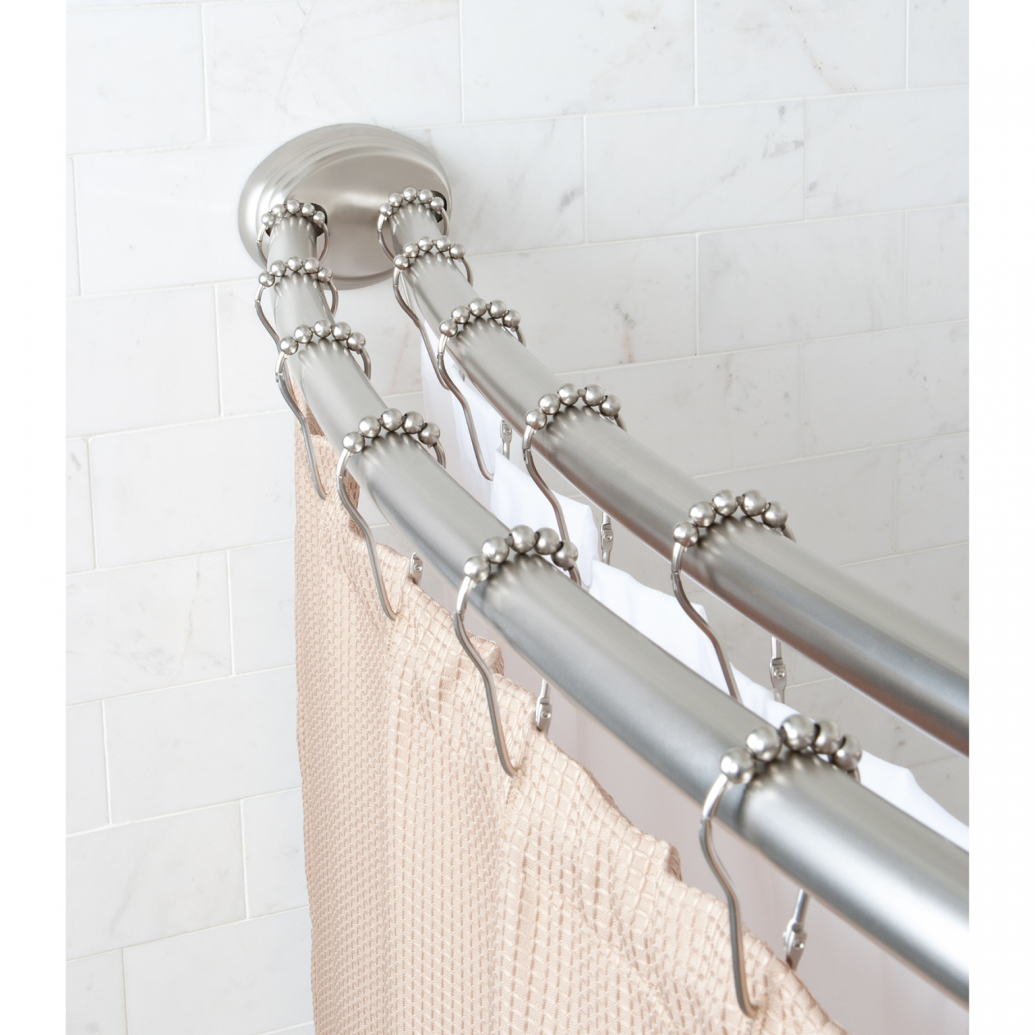 Details About Better Homes And Gardens Double Curved Tension Shower Curtain Rod 1 Each
