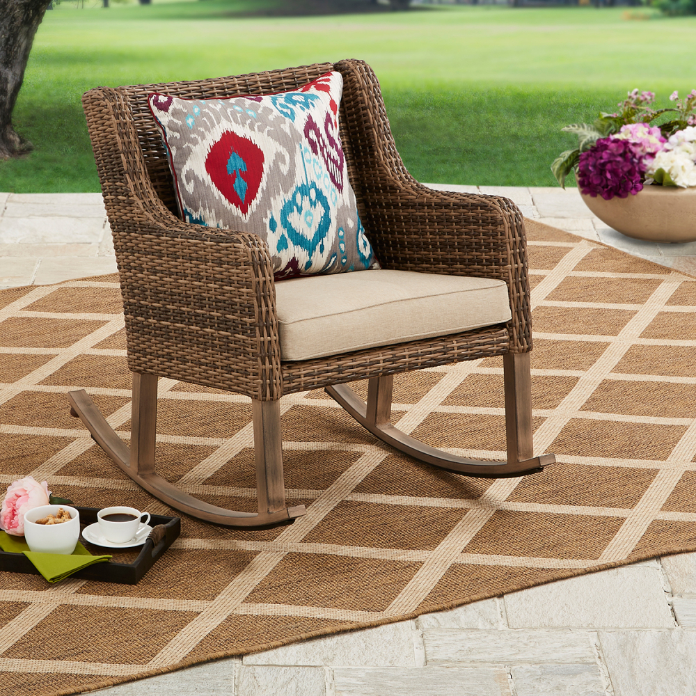 Better Homes And Gardens Hawthorne Park Outdoor Rocking Chair Ebay