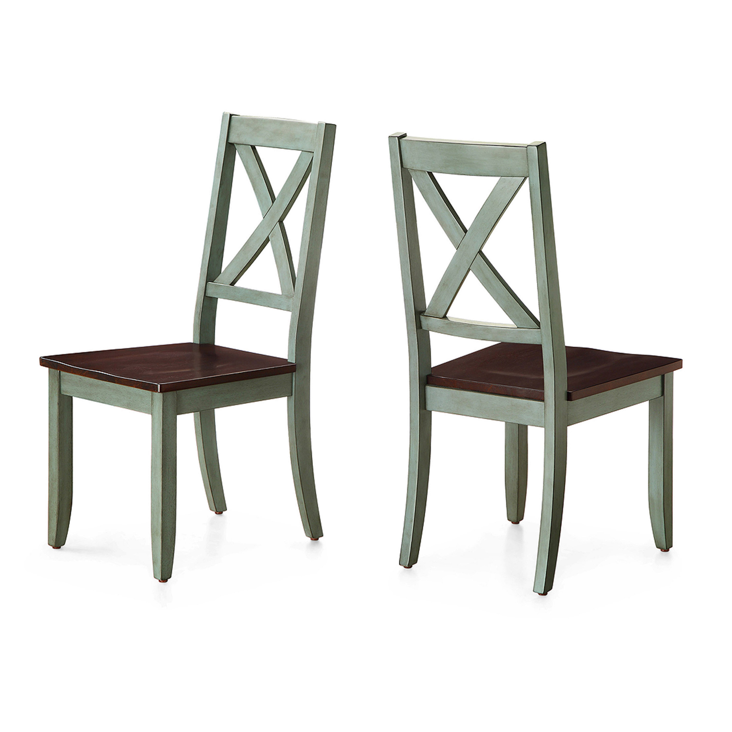 Set Of 2 Dining Chair Traditional Solid Wood Maddox Crossing Seat Home Furniture 764053496158 Ebay
