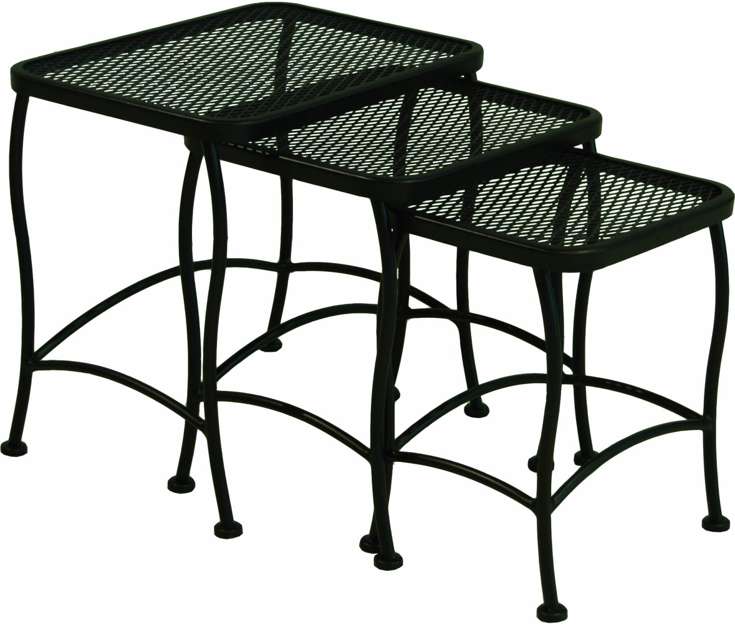 3 Piece Seacliff Wrought Iron Outdoor Nesting Side End ...
