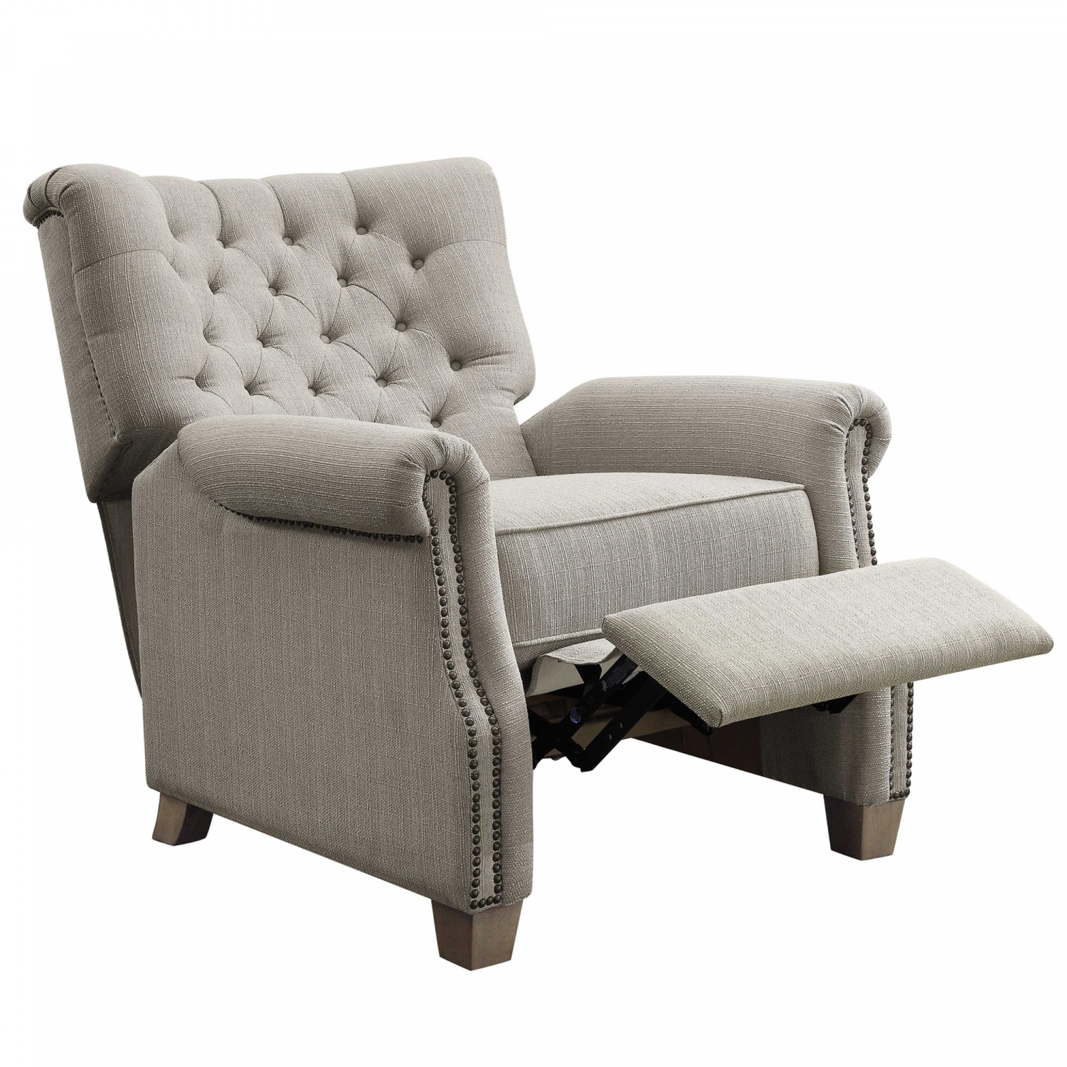 Tufted Accent Recliner Chair Push Back Armchair Lounge ...