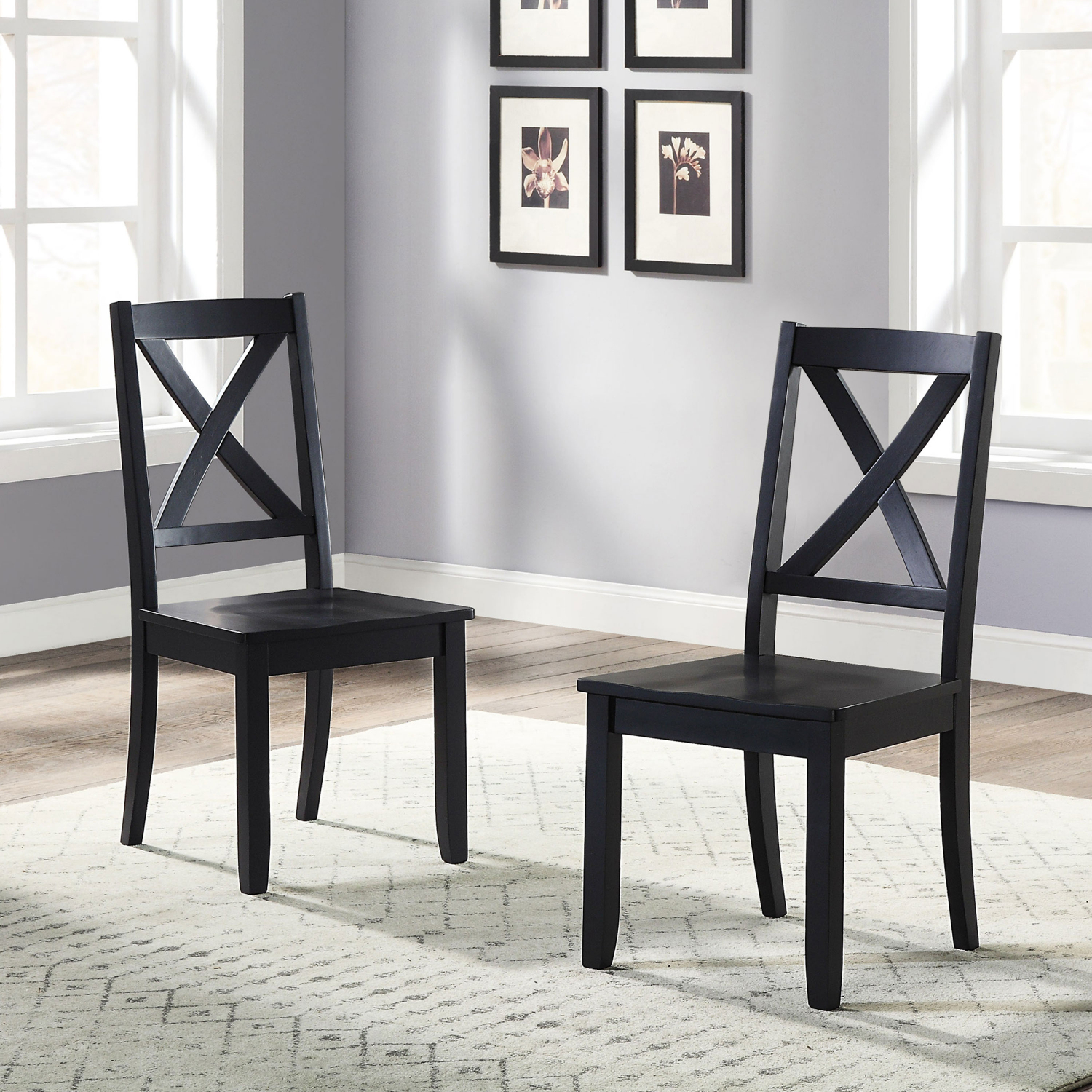 Rustic Dining Room Chairs Farmhouse Kitchen Table Chair Set Of 2