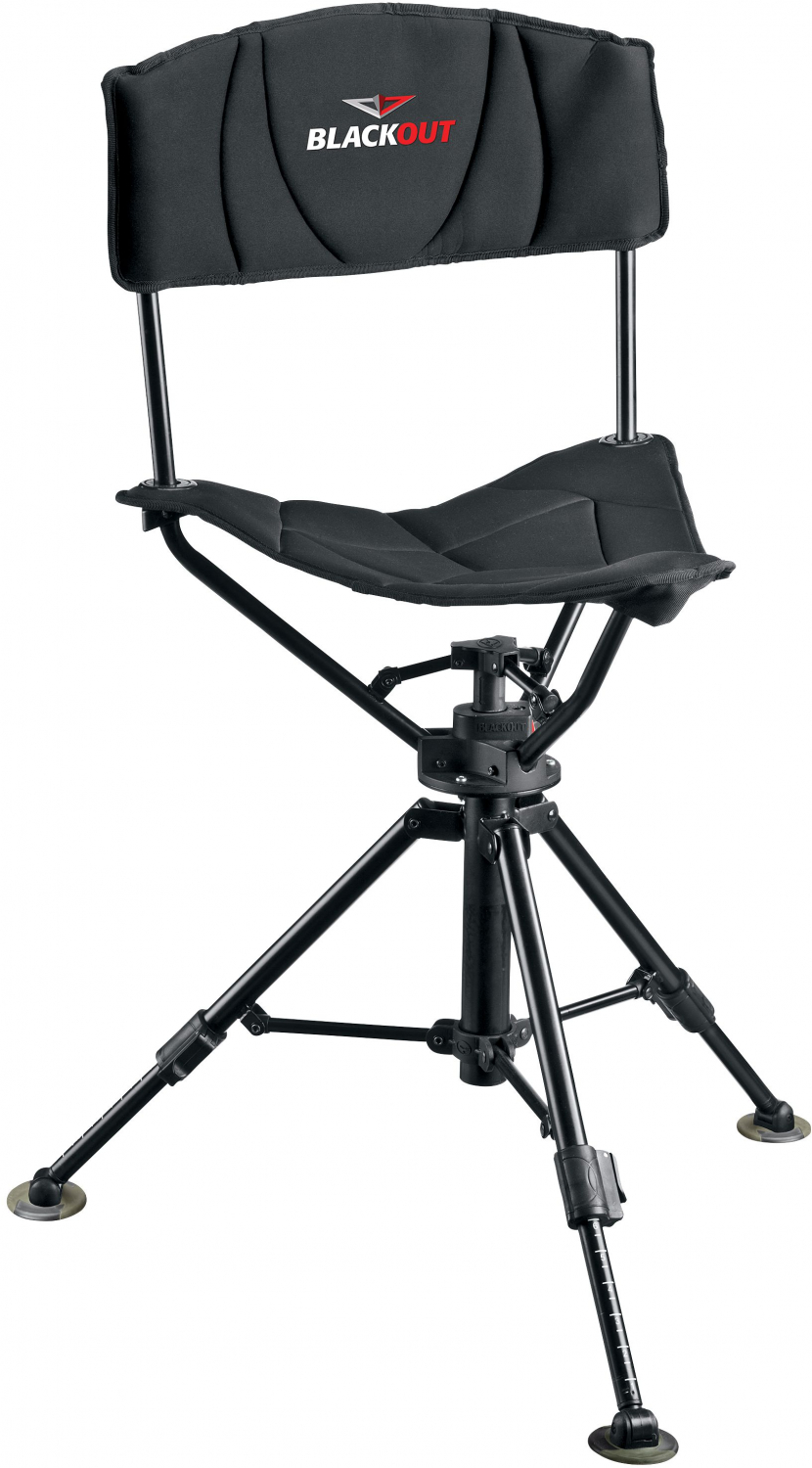 Astounding Details About Blackout Tripod Swivel Chair 360 Turn For Hunting Adjustable Legs Durable Seat Creativecarmelina Interior Chair Design Creativecarmelinacom