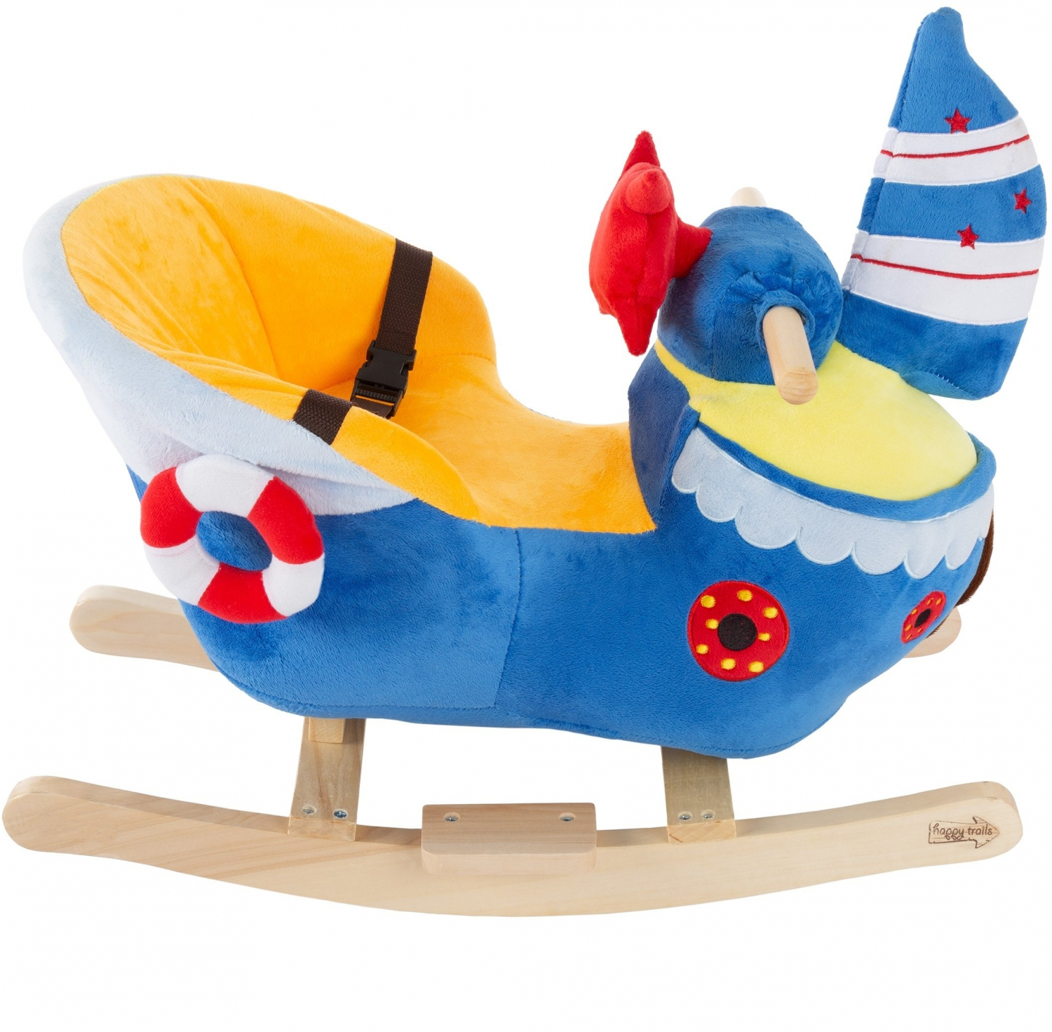 Details About Happy Trails Plush Boat Rocking Chair Kids Ride On Play Toy Toddler Rocker Seat