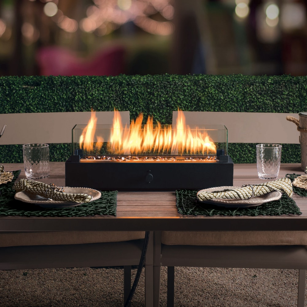 Portable Outdoor Patio Table Fire Pit, Propane Gas Flame ...