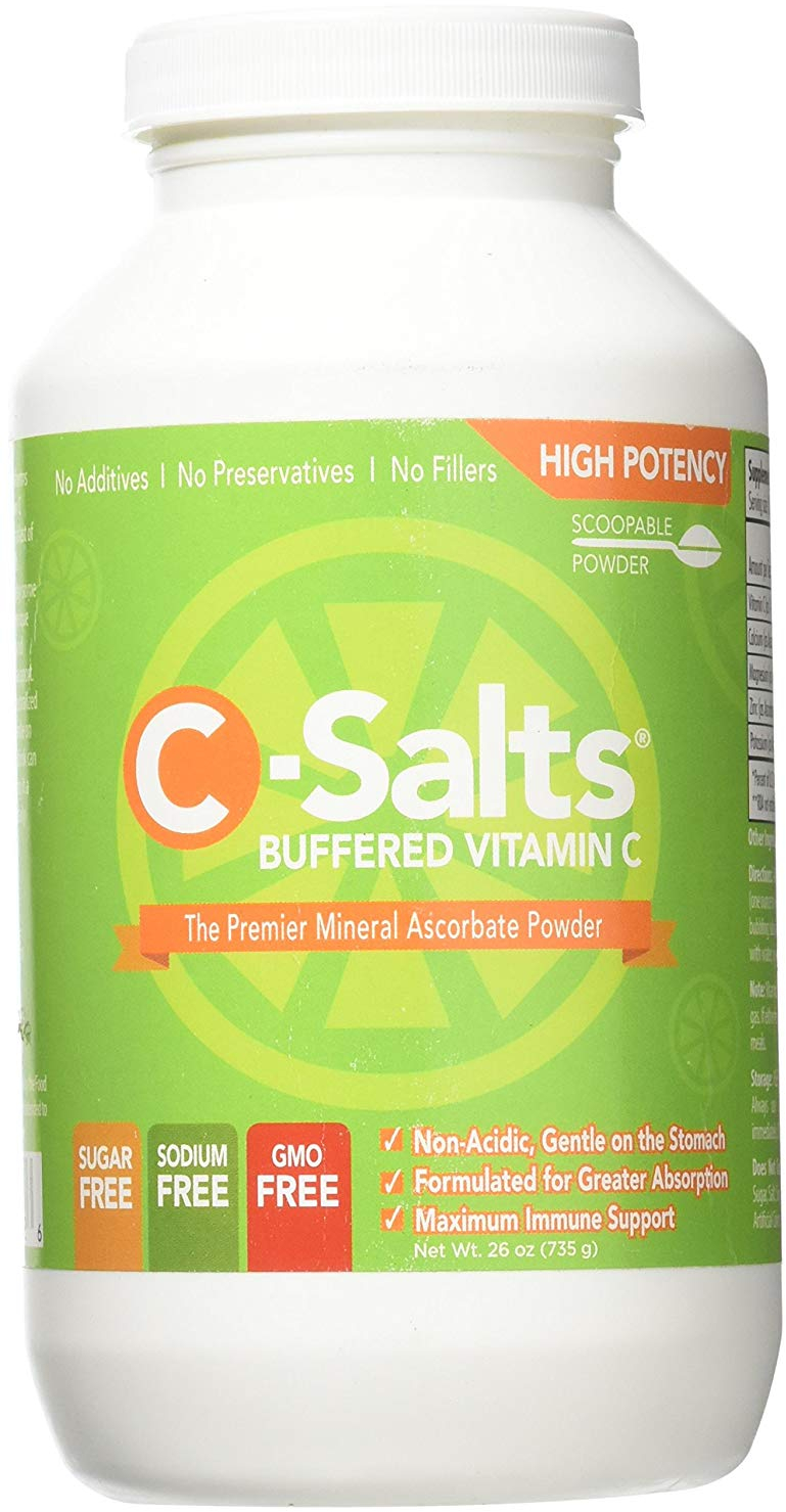Details about C-Salts GMO FREE Buffered Vitamin C Powder (1000mg - 4000mg)  | 140+ Servings,