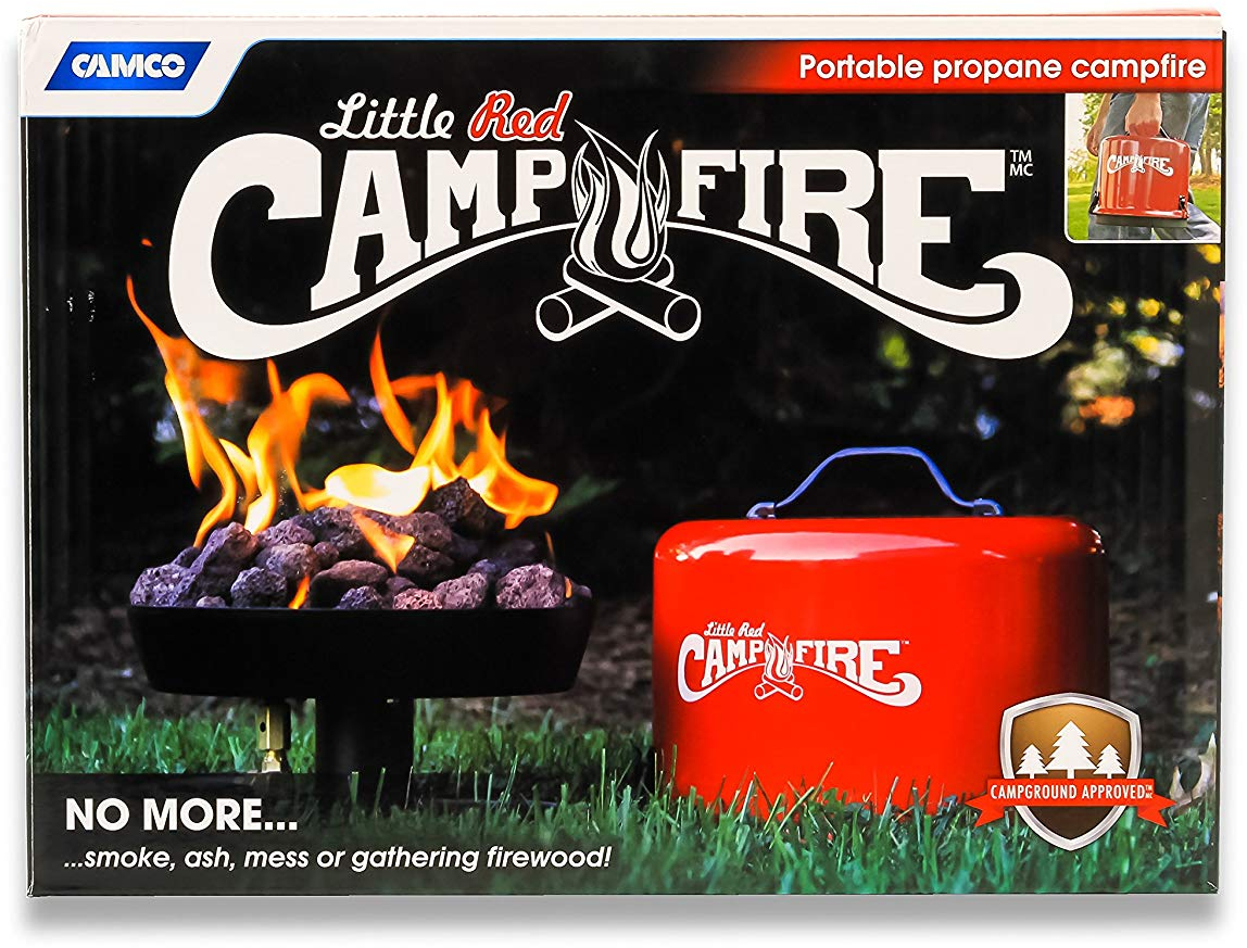 Camco Big Red Campfire 13 25 Inch Portable Propane Outdoor Camp Fire Rv Approved